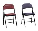 【南洋風休閒傢俱】時尚餐椅系列 皮製折合椅 紫/紅 皮面餐椅 橋牌合椅 麻將餐椅(SB853-17-18)