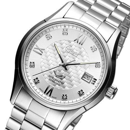 Ogival 愛其華 尊皇真鑽機械腕錶-銀白 3356AJMS