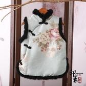 中國風馬甲女 中式改良式唐裝 棉襖夾棉馬夾背心 古風女裝兔毛旗袍小襖