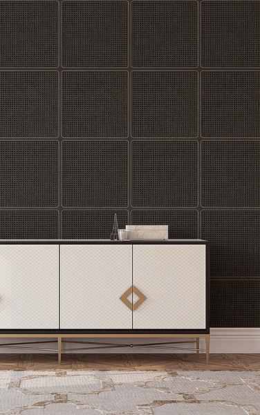 黑色編織紋 藤編織圖案 木紋壁紙 仿真 5色可選 荷蘭壁紙 NLXL CANE WEBBING / VOS-18