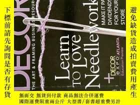 二手書博民逛書店DECOR罕見MAGAZINE 2006年7月 裝飾雜誌 THE ART & FRAMING BUSINESS R