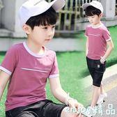 男童短袖T恤 夏季兒童圓領韓版純棉上衣
