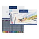 Faber-Castell輝柏 ART-GRIP創意工坊水彩色鉛筆-藍色精緻鐵盒裝36色組114636