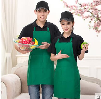 【京東生活小物】鋒銘西餐廳工作服圍裙咖啡店火鍋店服務員圍裙可印字定制LOGO