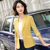 俐落線條五分袖多色春夏搭配外套[20X053-PF]小三衣藏