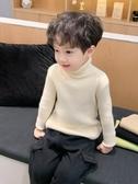 男童針織衫兒童白色高領套頭毛線衣小童男寶寶毛衣冬內搭打底衫2 完美計畫
