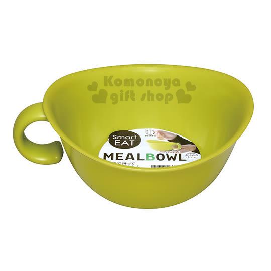 〔小禮堂〕KOKUBO  日製 單耳塑膠湯碗《綠》可微波 4956810-80287