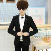 青少年男裝韓版西裝男修身男士西服外套學生休閒小西裝潮  朵拉朵衣櫥
