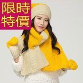 圍巾+毛帽+手套羊毛三件套-與眾不同嚴選歐美秋冬女配件4色63n27[巴黎精品]