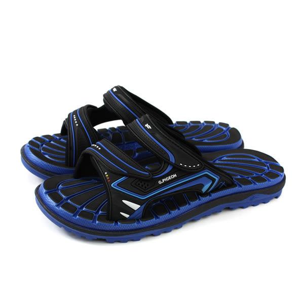 GP (Gold.Pigon) 阿亮代言 拖鞋 涼鞋 防水 雨天 黑色/藍色 男鞋 G8546-20 no041