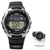 CASIO日本卡西歐 仿飛機儀表板輕美學雙顯腕錶膠錶 200M防水 十年電力 柒彩年代【NE1445】公司貨