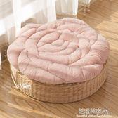 日式毛絨玫瑰學生墊餐椅子墊榻榻米墊飄窗坐墊冬季保暖汽車墊·花漾美衣 IGO