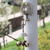 雙魚 美人魚孔雀黃銅鈴鐺風鈴金屬店鋪居家掛飾門飾創意生日禮物