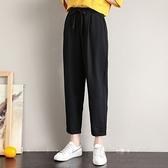 運動褲 運動褲女夏季薄款2021新款初中高中學生褲子休閒寬鬆直筒九分褲潮 618購物節