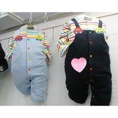 韓國童裝 男寶寶 假二件吊帶款 連身兔裝 彩虹套裝-深藍【KORE210020063】