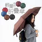雨傘 自動開折輕量傘 自動傘 折傘 雨具 雨衣【F010】