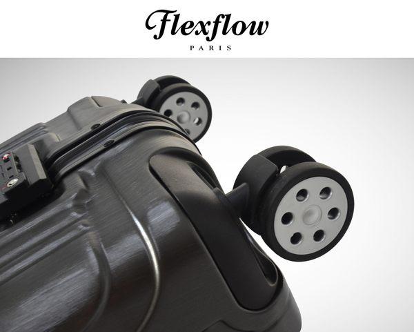 Flexflow 髮絲黑 (黑框)-26吋純PC材質 智能測重鋁框旅行箱 普羅旺斯系列 26吋測重行李箱-純PC材質