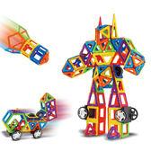 三鑫百變提拉磁力片磁鐵拼裝建構??搭磁性積木益智男女兒童玩具