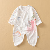 夏季寶寶竹纖維哈衣新生兒薄款衣服嬰兒繫帶蝴蝶衣和服 全館免運