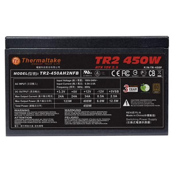 曜越 TR2 450W 電源供應器-80PLUS銅牌