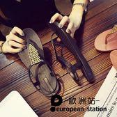 涼鞋/夾腳女平底夾趾休閒軟底防滑羅馬「歐洲站」