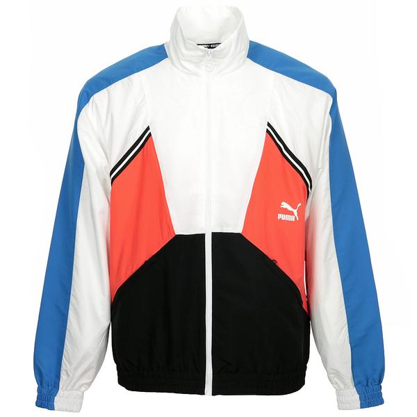 PUMA 男款橘黑藍白四色立領運動外套-NO.59646441