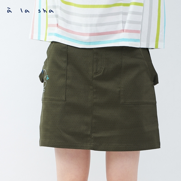 a la sha 啊烏龍綁帶短裙