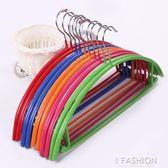 半圓 無痕浸塑衣架 多功能魔術防滑干濕塑料衣架(10個裝)igo Ifashion
