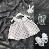 2018新款夏裝 女童波點棉質上衣 女寶寶夏季背心娃娃衫 嬰兒童裝禮物限時八九折