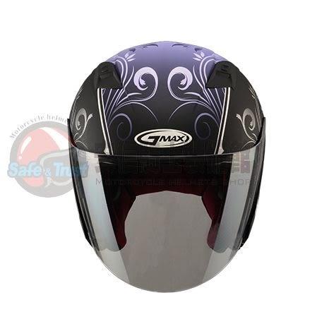 [中壢安信] SOL GMAX GM OF-77 OF77 蝴蝶三代 消光黑紫 SO7 半罩 安全帽 送好禮