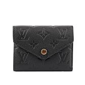 【LV】Monogram VICTORINE牛皮壓印零錢袋短夾(黑色) M64060