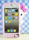 【震撼精品百貨】Hello Kitty 凱蒂貓~HELLO KITTY iPhone5手機造型矽膠殼-偷看(粉)