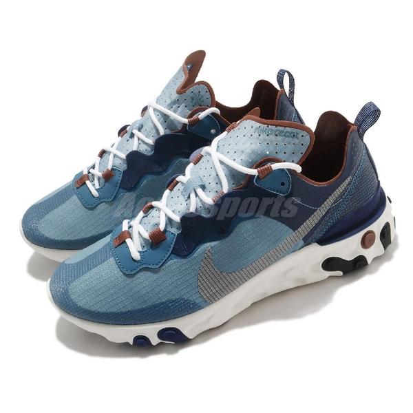 【六折特賣】Nike 休閒鞋 React Element 55 RM 藍 白 男鞋 發泡材質中底 緩震回彈 運動鞋【ACS】 CU1466-400