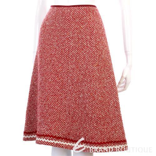 BLANCS MANTEAUX 紅色毛料及膝裙 0510511-54
