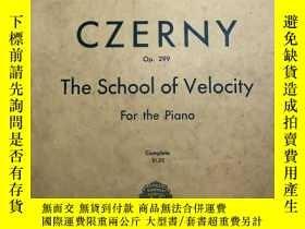 二手書博民逛書店CZERNY罕見the school of velocity f