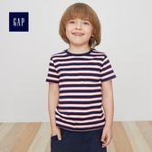 Gap男嬰幼童 柔軟條紋口袋短袖T恤 418388-海軍藍條紋