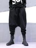 飛鼠褲 新款歐美暗黑潮牌寬鬆抵襠垮褲嘻哈大襠哈倫褲男休閒褲子 新年禮物
