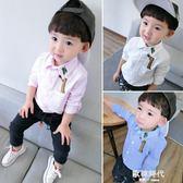 寶寶純棉長袖襯衫薄款童裝格子襯衫襯衣 歐韓時代