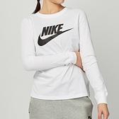 Nike NSW tee essntl ls icn ftr 女款 白 運動 慢跑 長袖 上衣 BV6172-100