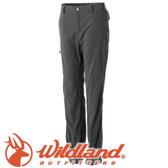 【Wildland 荒野 女款 彈性SUPPLEX可調節長褲《深卡灰》】0A51305/春夏款/彈性長褲/休閒長褲