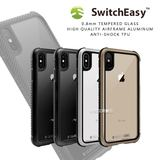 【SwitchEasy iGLASS】9H玻璃背蓋 蘋果 iPhone X Xs XR XsMax 手機保護 防摔殼 套