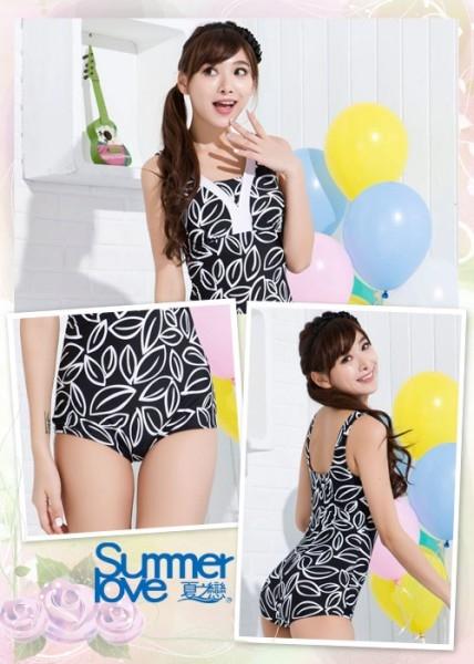 【SUMMERLOVE夏之戀】超顯瘦連身三角泳衣-S15706