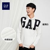 Gap男裝 LOGO系列摩登風格长袖連帽衛衣 122931-嚴清白