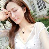 陶瓷鈦鋼裝飾小紅人網紅同款項鍊女韓版鎖骨鍊簡約日韓版學生森系/米蘭世家
