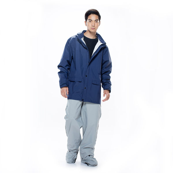 【MORR】Expansion可收納延伸鞋套雨褲【紐約灰】機車/兩件式