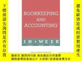 二手書博民逛書店Bookkeeping罕見and Accounting in a Week: Teac...-一周內的簿記和會計:
