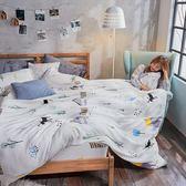 法蘭絨 / 單人【蒂蒂小鹿】含一件枕套  鋪棉床包薄被毯組  戀家小舖AAR115