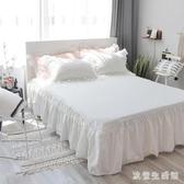 棉質床罩全棉純色床裙式單件保護套1.2/1.5/1.8/2.0m米床套可定做 KV4623 【歐爸生活館】
