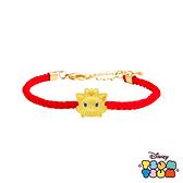 Disney迪士尼TSUM TSUM系列金飾 黃金編織手鍊-瑪莉貓款