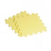 【新生活家】EVA素面巧拼地墊-黃色32x32x1cm40入